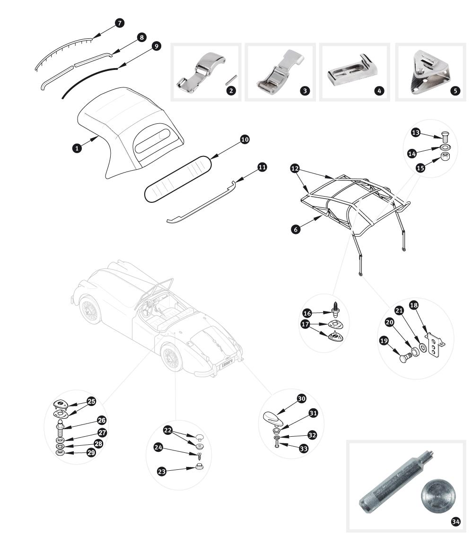 jaguar xk150 parts