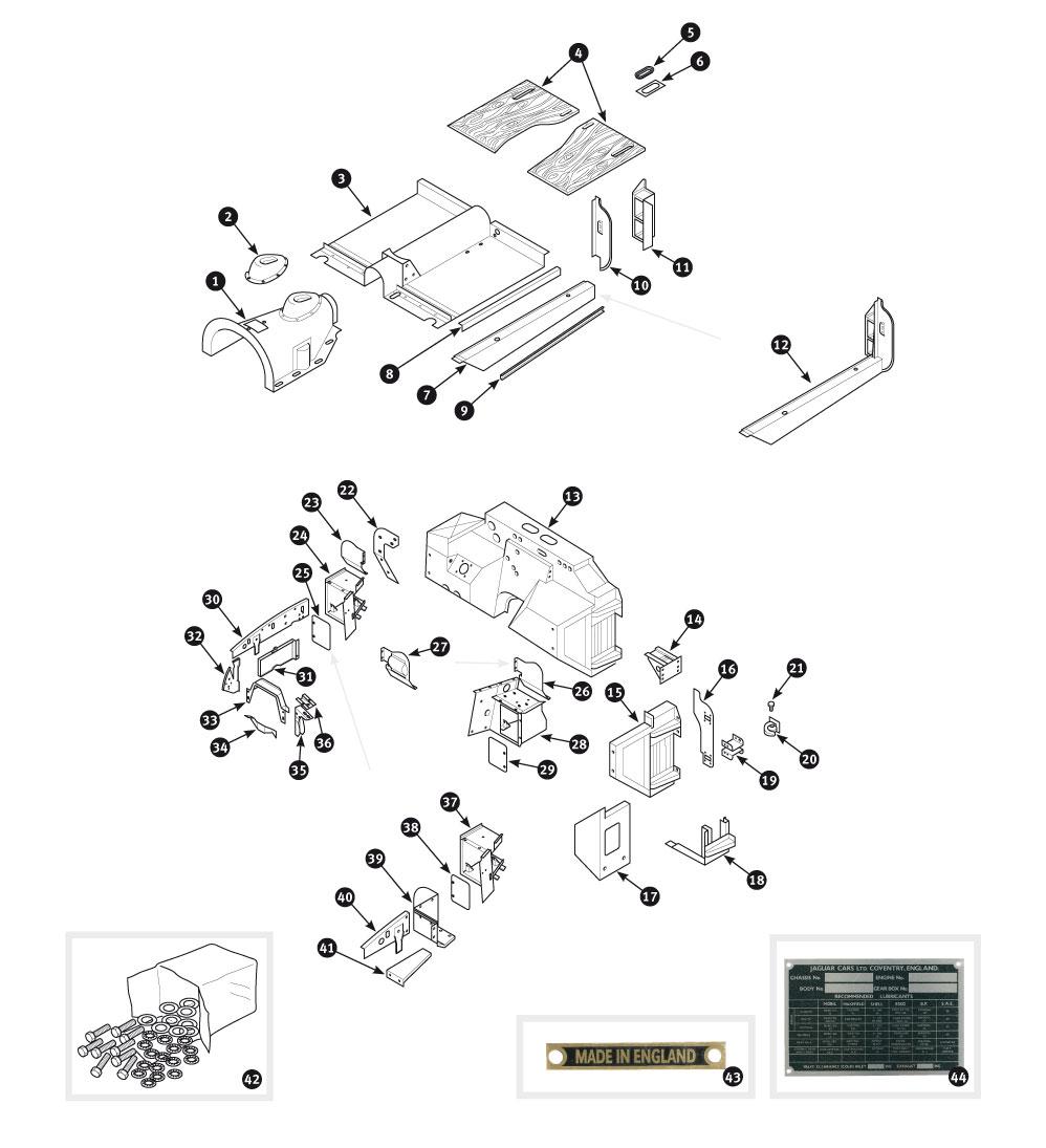 Body Panels Xk120 Wiring Diagrams 1957 Jaguar Xk140 Pictures