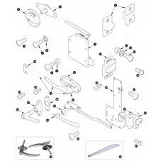 Door locks and handles - XK120