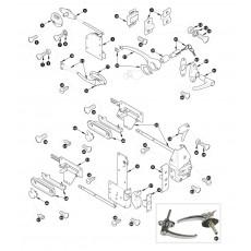 Door locks and handles - XK140