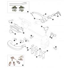 Door locks and handles - XK150