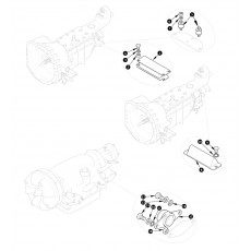 Gearbox and overdrive mountings