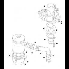 Solex SX 40 carburettor and air filter  - 2.25 Benzinmotor, Serie II and IIA