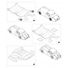 Headlining covering kit - FHC models