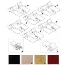 Carpet sets - XK150 to August 1958