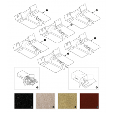 Carpet sets - XK150 from November 1958 to March 1960