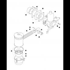 SU HD6 Carburettor and air filter - 2.6 liter petrol engine, Serie IIA and Serie III