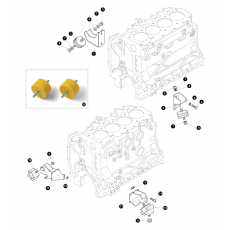 Engine mountings - 4 cylinder Petrol and Diesel