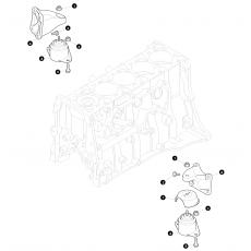 Engine mountings - 5 cylinder Diesel Td5