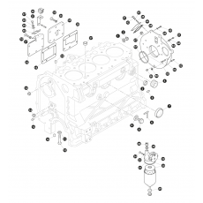 Cylinder block and oil filter - 2.25 litre 4 cylinder diesel engine