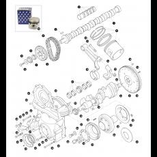 Crankshaft  - 8 cylinder engine