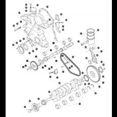 Crankshaft - 2.5 litre 4 cylinder petrol engine