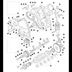 Crankshaft - 2.5 litre 4 cylinder diesel engine