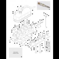 Cylinder head - 2.5 litre 4 cylinder turbo diesel engine