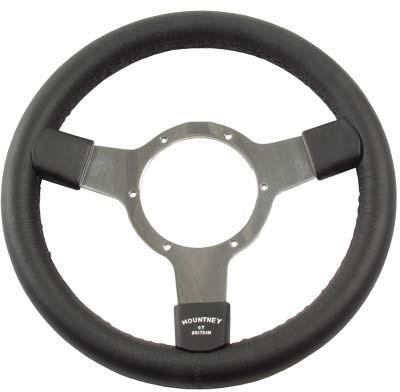 Leather rim steering wheel
