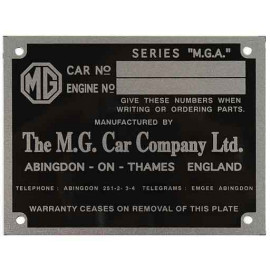 MG Chassis plate