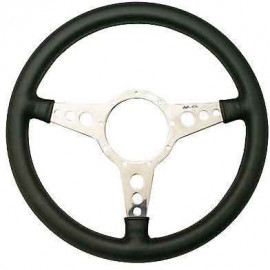 Leather rim steering wheel