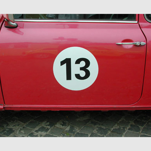 Stickers with starting numbers
