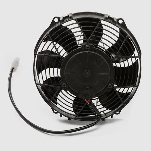 Water pump, fan and radiator