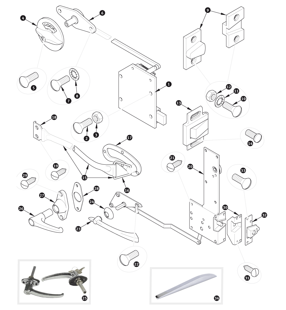 door locks and handles xk120 sc parts group ltd 1960 Jaguar XK