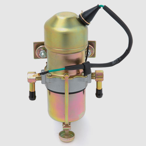Fuel tanks, pumps, filter, pipes and hoses