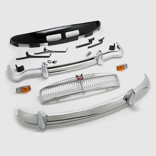 Chrome bumper conversion,  sill covers, threshold plates, wheel trims