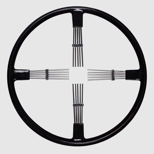 Brooklands style steering wheels