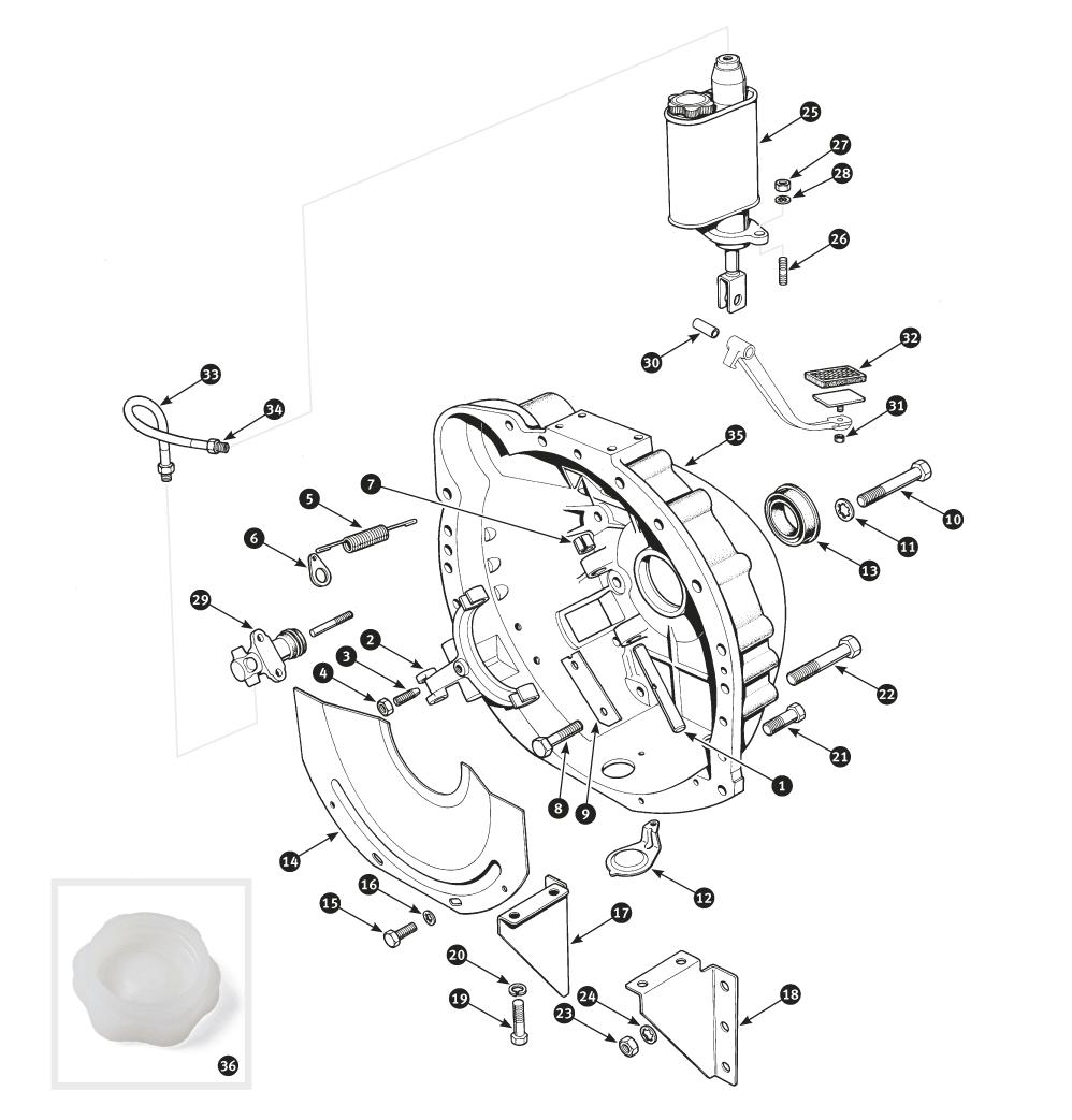 parts for jaguar mark ii and daimler v8 clutch control sc parts Triumph Spitfire Body Kits clutch control