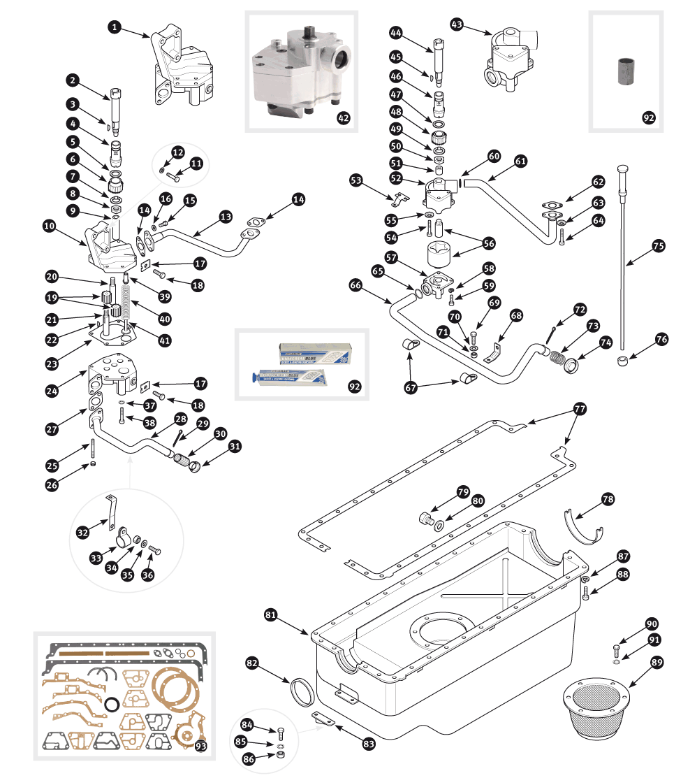 Parts For Jaguar Xk120 Xk140 And Xk150 Oil Sump Sc Pan Gasket X Type Group Ltd
