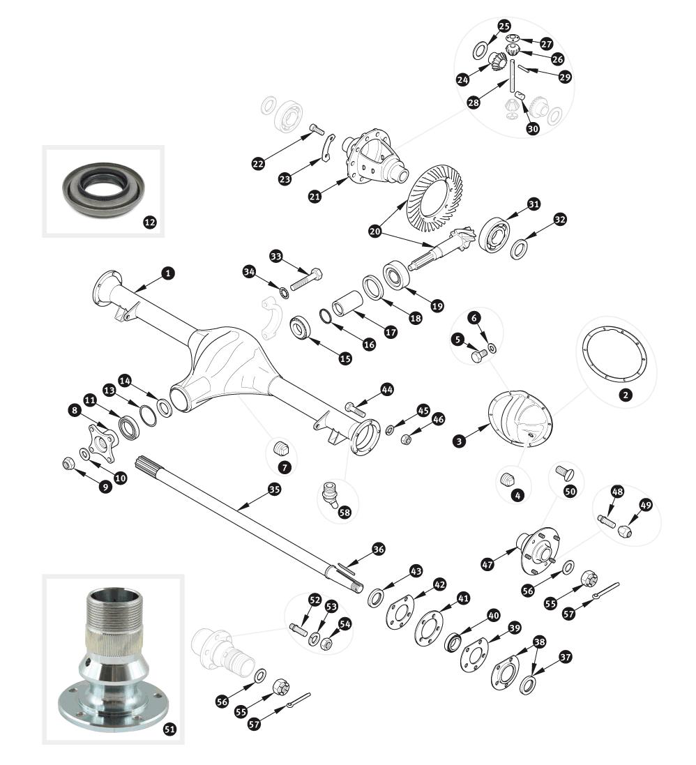 parts for jaguar xk120 xk140 and xk150 rear suspension sc parts Scale Model MG TF rear suspension