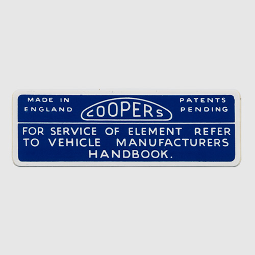 Decals and identification plates