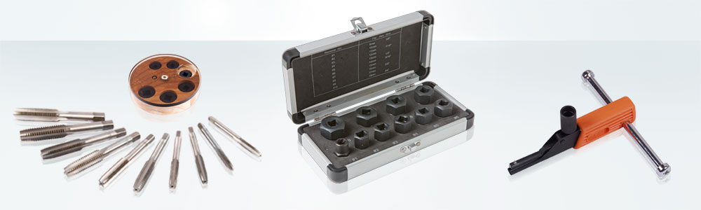 Thread cutting tools and screw removal
