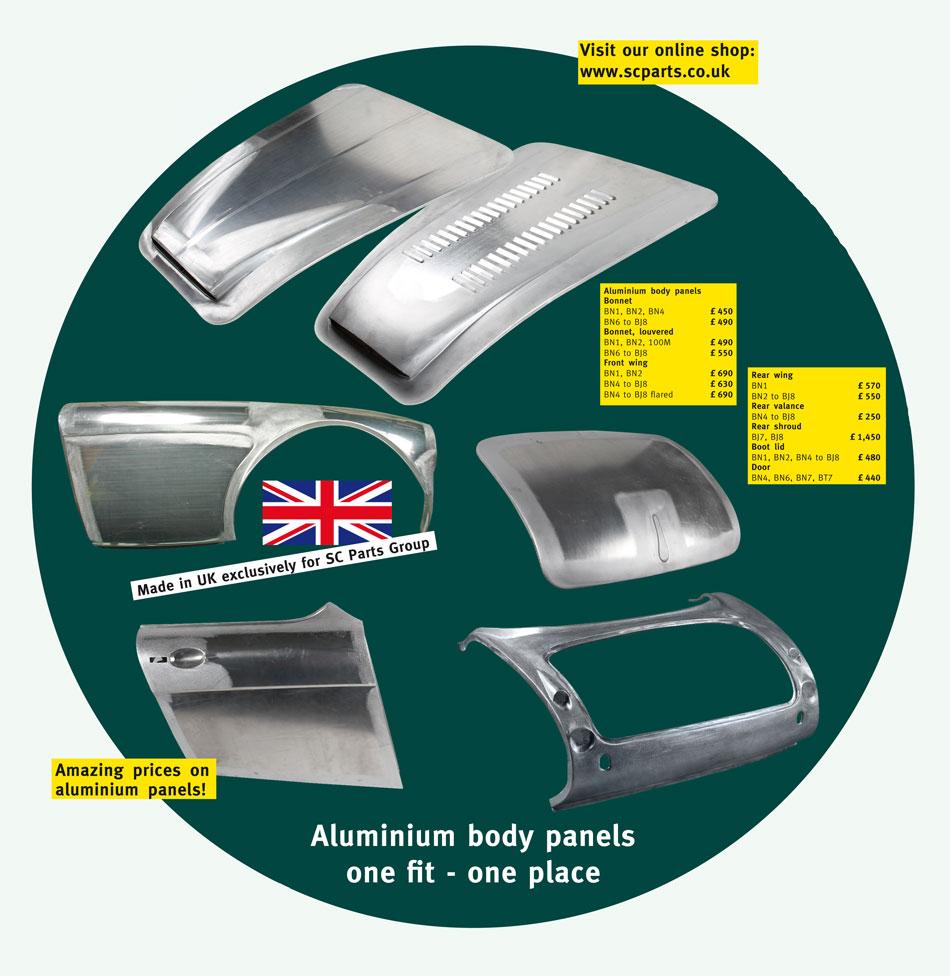 Aluminium body panels - SC Parts Group Ltd