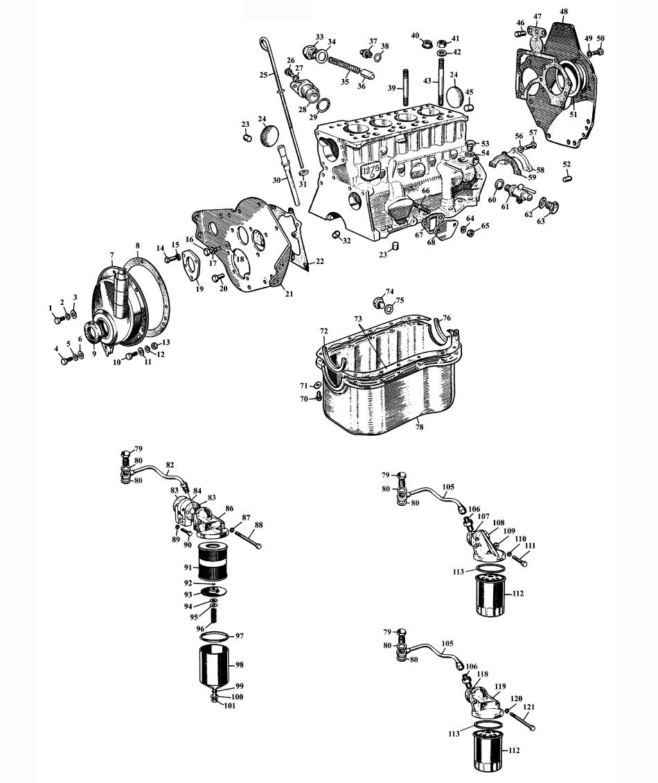 cylinder block 1275 ccm - engine