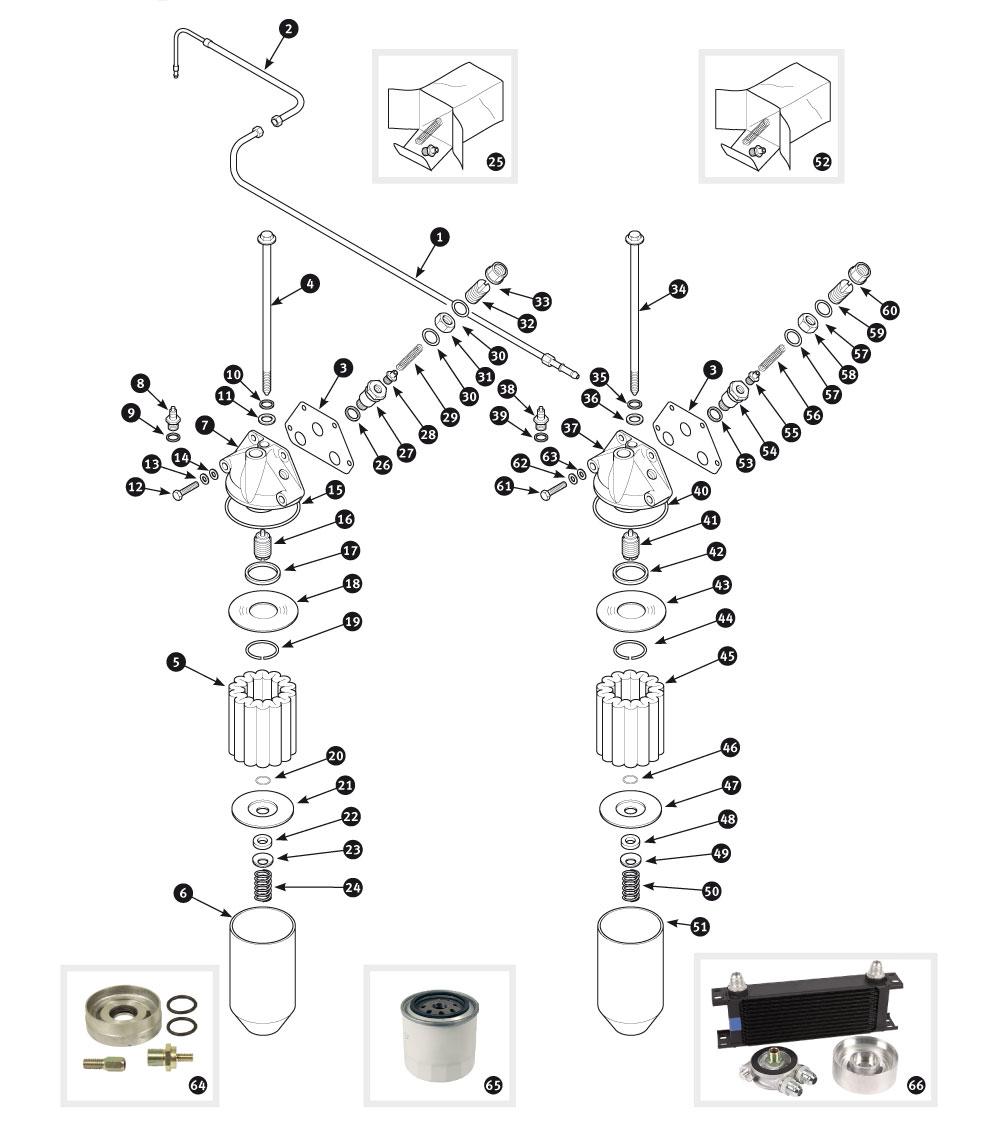 parts for jaguar xk120  xk140 and xk150  u2022 oil filter
