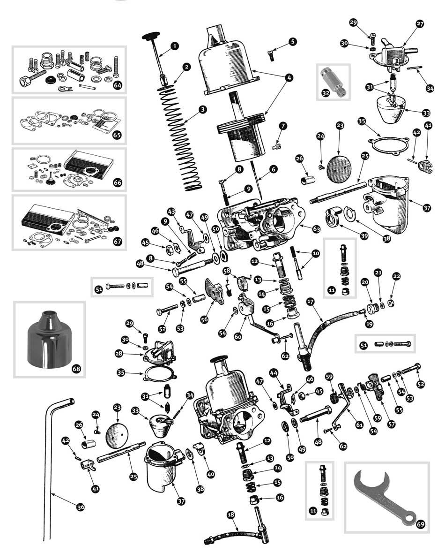 parts for austin healey bn1 - bj8  u2022 carburetor bj7