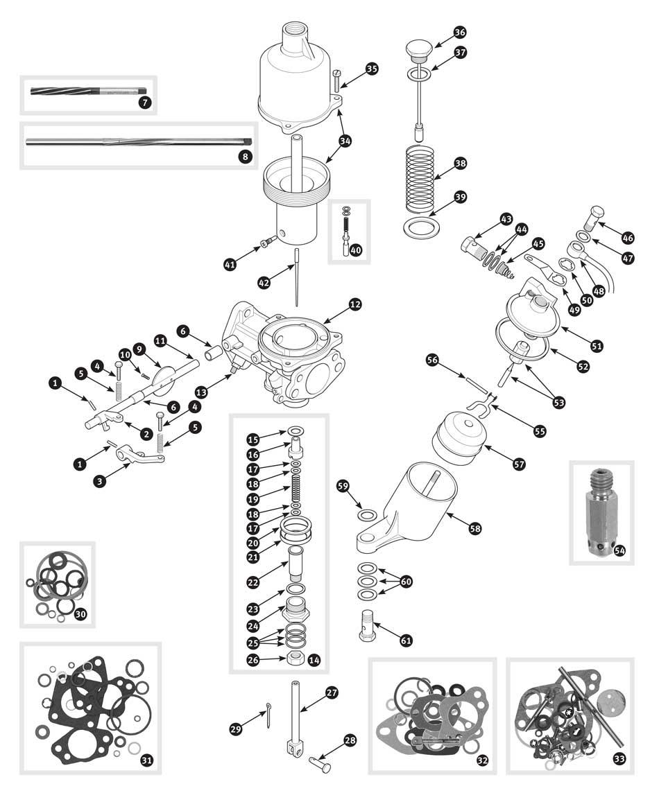 su-h4 carburetor internal parts  tr2