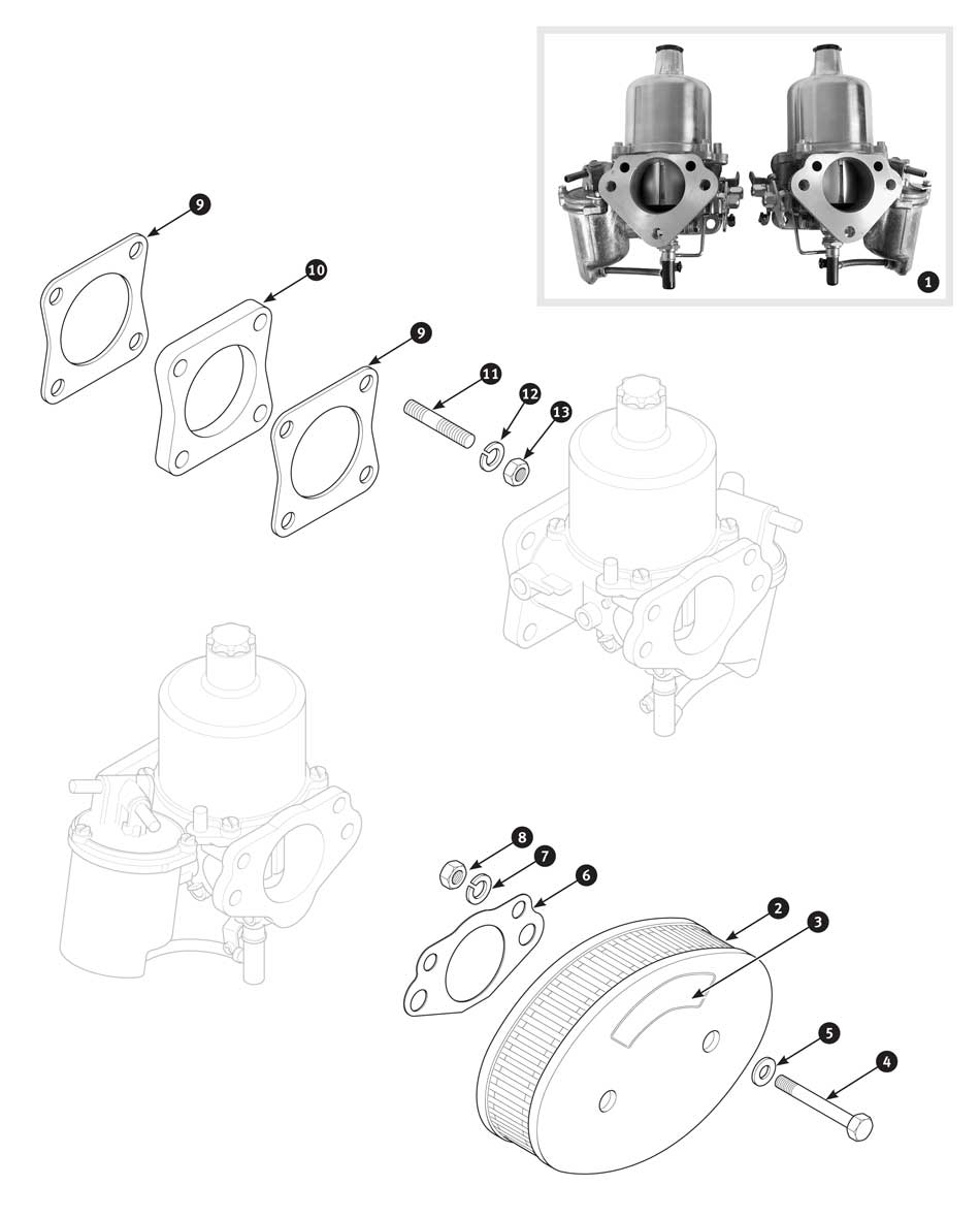 Su Hs6 Carburetor And Air Filter Tr4a From Ctc62191 Sc