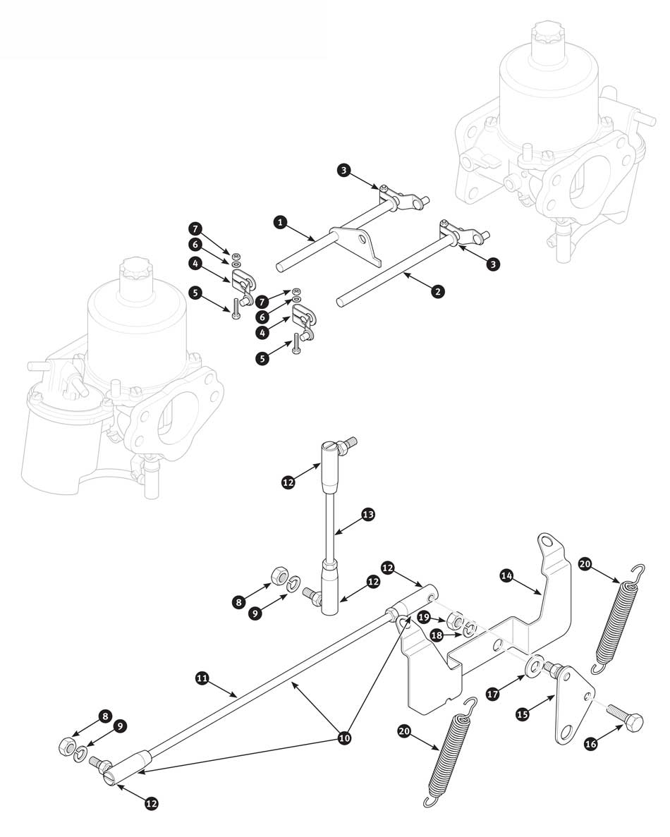 su-hs6 carburetor linkage tr4a from ctc62191