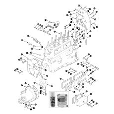 Cylinder block - 3 main bearing engine