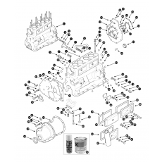 Cylinder block - 5 main bearing engine