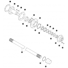 Wheel bearings and drive shafts - early models to end of 1993 (to VIN...KA930455)