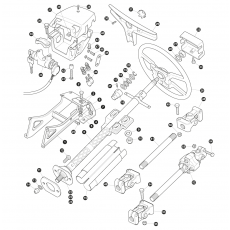 Steering column and steering wheel