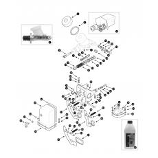 Brake hydraulics - dual line system less servo