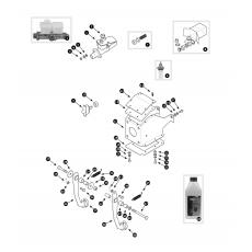 Brake hydraulics - dual line system with servo