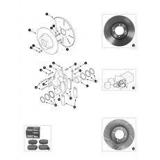 Front brakes - MGB V8