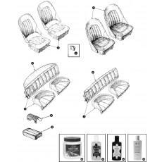 Seats and seat covers - BN1, BN2, BN4, BN6, BN7, BT7 and BJ7