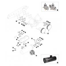 SU-H6 carburettor and air filter - XK140