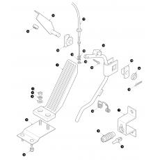 Accelerator pedal - RHD cars