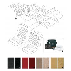 Complete interior trim kit - XK140 OTS